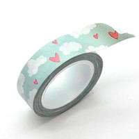 Washi Tape Paper Masking Tape - Cloud & Hearts