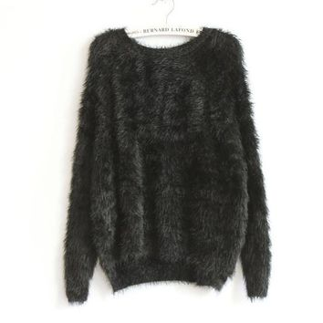 *online exclusive* super soft fuzzy pullover (available in more colors)