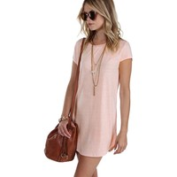 Sale-peach Back To Bae-sics Tunic