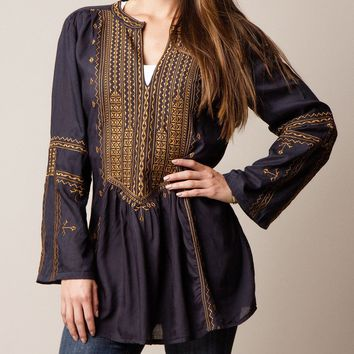 Marrakesh Tunic - Navy