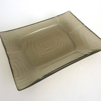 Bronze Glass Turtle Shell Imprint Plate