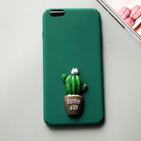 Cat and Cactus iPhone 7 7 Plus & iPhone 6 6s Plus & iPhone 5s se Case Personal Tailor Cover + Gift Box-481