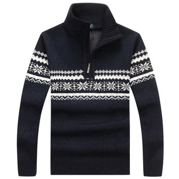 Men Sweater Fashion Autumn Winter Wool Cardigan Men's Casual Thick Warm Sweater Male 2017 Knitting Sweter Hombre M-3XL coat