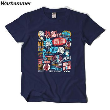 Warhammer Rick and Morty T-shirt 2017 New Anime Style Cotton 3D Shirt O-Neck Short Sleeve T Shirt Homme Rick Morty Fans T shirts
