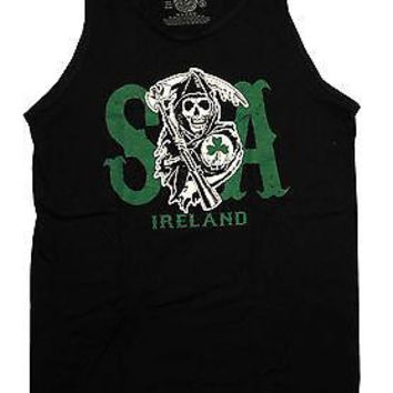 Sons Of Anarchy Reaper Logo Ireland Jersey Tank S M L XL 2XL 3XL New Licensed