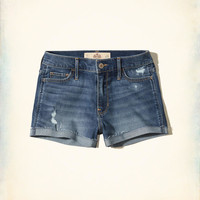 Girls High-Rise Denim Short-Shorts | Girls Bottoms | HollisterCo.com