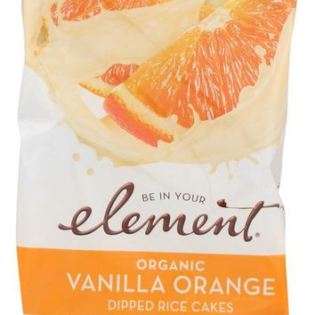 ELEMENT SNACKS: Vanilla Orange Dipped Rice Cakes, 3.5 oz