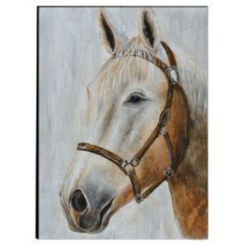 Horse Hand Painted Wood Wall Art Decor by Urban Port