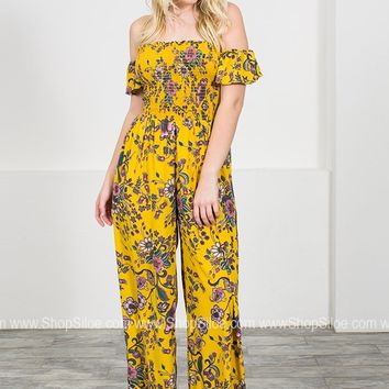 Gold Floral Jumpsuit
