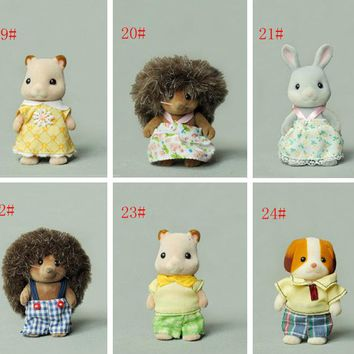Limit stock ! Japan original bulks sylvanian families cute Hedgehog rabbit puppy dolls toys for girls collectible Christmas Gift