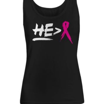 He is Greater Than Breast Cancer Women's Tank Top heisgreatertanktop