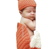 Fox Knit Hat Outfit Set Newborn Baby Photo Prop - CCA68