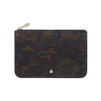 Cara Delevingne Small Pouch in Khaki Camo Printed Goat | Pouches | Mulberry
