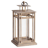 "23"" Amelia Table Lantern, Distressed Tan, Outdoor Lanterns"