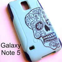 Galaxy Note 5 OTTERBOX Case - Otterbox Commuter Glitter Case for Galaxy Note 5 - Sparkly sugar skull, New Samsung Galaxy Note 5