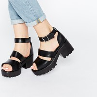 Truffle Collection Strap Platform Heeled Sandals