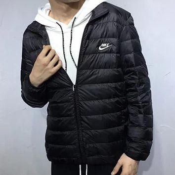 Nike Fashion Casual Thin And Light Zip Down Jackets