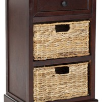 Carrie Side Storage Side Table Dark Cherry