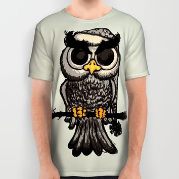 Angry owl All Over Print Shirt by Mangulica   Society6