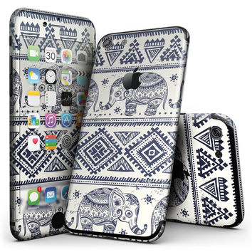 Sacred Elephant Pattern - 4-Piece Skin Kit for the iPhone 7 or 7 Plus
