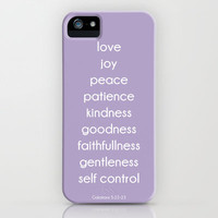 Fruits of the Spirit iPhone Case by PrintableWisdom | Society6