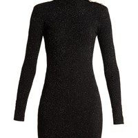 Button-detail body-con dress | Balmain | MATCHESFASHION.COM US