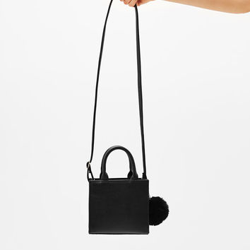 Mini tote bag with pompom - Bags - Bershka United States
