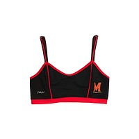 University of Maryland Sporty Bralette with Back Straps