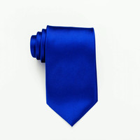 Mens Tie - Royal Blue Necktie. Royal Blue. Royal Blue Wedding. Skinny Royal Blue Tie. Solid Tie. Solid Wedding Tie.