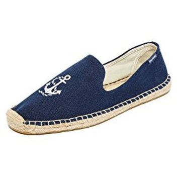 ICIK8BW Soludos Men's Anchor Smoking Slipper Loafer Midnight Blue 10 M US