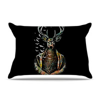 "BarmalisiRTB ""There Is No Place"" Multicolor Deer Pillow Case"