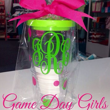 MONOGRAMMED Tervis Tumbler personalized 24 oz.