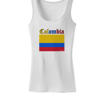 Colombia Flag Womens Petite Tank Top
