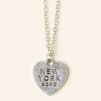 SILVER SOHO, NY HEART NECKLACE