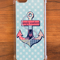 Simply Southern Anchor iPhone Case
