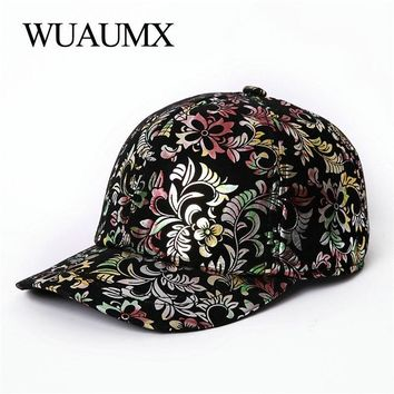 Trendy Winter Jacket Wuaumx Autumn Winter Genuine Leather Baseball Caps For Women Fashion Print Sheepskin Leather Warm Snapback Hat For Female Girls AT_92_12