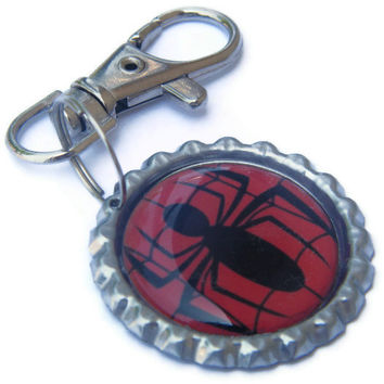 Back To School - Spiderman Zipper Pull , Backpack Charm , Lunchbox Tag , Party Favor , Backpack Zipper Pull