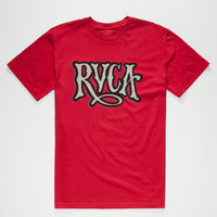 Rvca Virgil Mens T-Shirt Red  In Sizes
