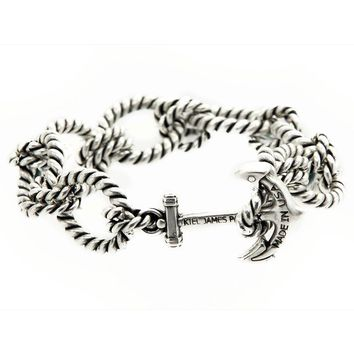 Silver Sea Bracelet by Kiel James Patrick