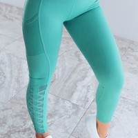 Working Out Pants: Dusty Blue