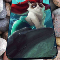 Little Mermaid Grumpy Cat for iPhone 4/4s, iPhone 5/5S/5C/6, Samsung S3/S4/S5 Unique Case *76*