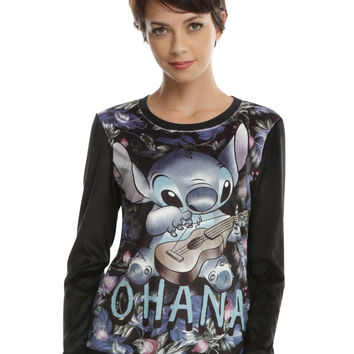 Disney Lilo & Stitch Ohana Velour Girls Pullover Top