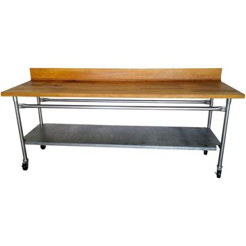 Pre-owned Vintage Industrial Butcher Block Table