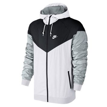 Men's Nike Sportswear Windrunner Jacket Iced Jade/Black/Black/White