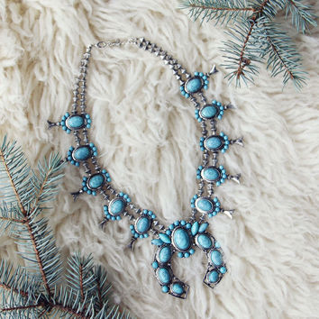 The Squash Blossom & Fir Necklace