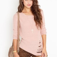 Shredded Knit Tunic in  Sale at Nasty Gal