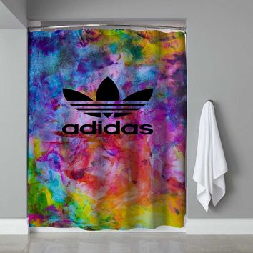 Adidas Colorful Design Custom Shower Curtain Limited Edition