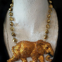 A3029 Elephant Necklace so Don't Forget or by KayAdams