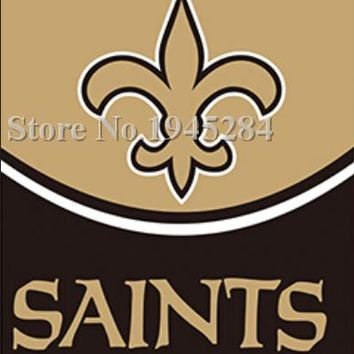 NFL New Orleans Saints Helmet Vertical Flag Banner Size 3x5FT 90x150CM New Polyester Flag Banner, free shipping