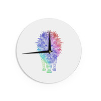 "Monika Strigel ""Rainbow Lion"" Wall Clock"